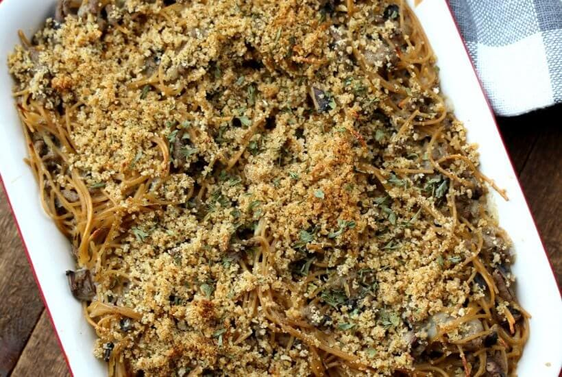 This Turkey Tetrazzini Casserole is easy, healthy and has been a family favorite of ours for years! If you are looking for the best comfort food recipe, this is it!