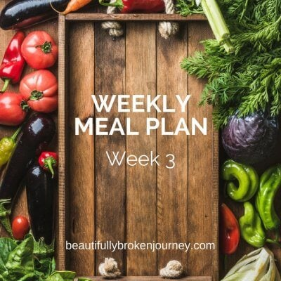 Weekly Meal Plan {Week 3}