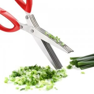 Herb scissors cutting herbs