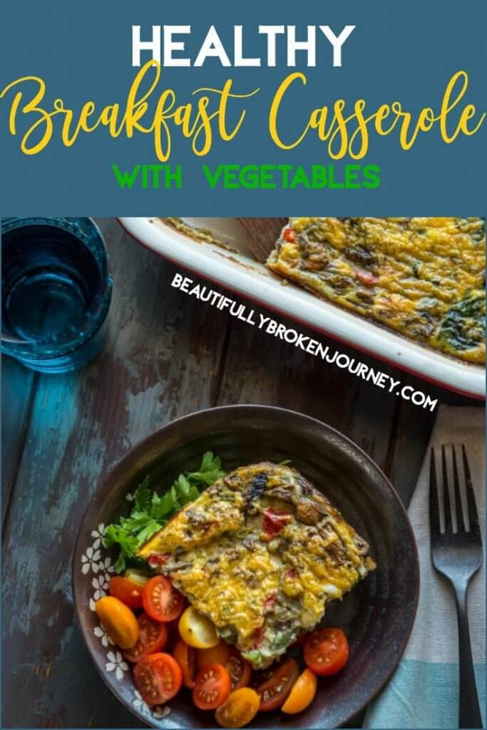 This healthy breakfast casserole is quick and easy to prepare and is loaded with veggies!