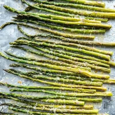 Oven Roasted Garlic Parmesan Asparagus