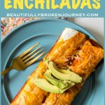 Need an idea for leftover pulled pork? Pulled Pork Enchiladas are easy to assemble and perfect for a quick weeknight meal! #pulledpork #easypulledpork #slowcooker #leftoverpulledporkrecipes #leftover