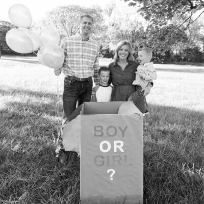 Pregnancy Announcement + Gender Reveal