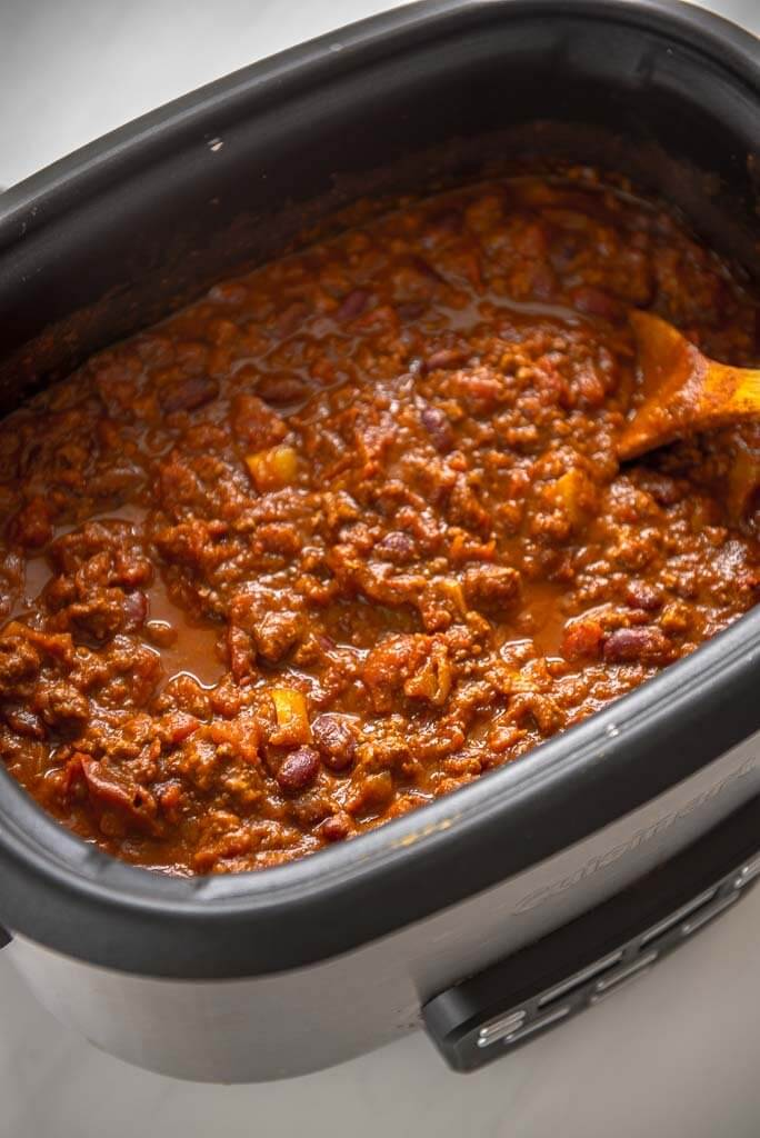 Photo of Pumpkin Chili in a Slow Cooker