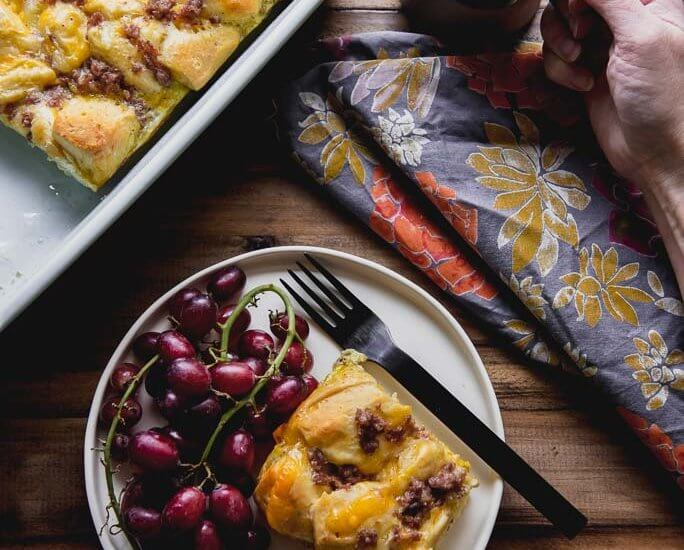 Breakfast Casserole with Biscuits is easy and quick to prepare and is perfect for the upcoming holidays or for a special gathering! #breakfastcasserole #breakfast